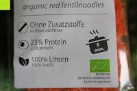 vorne: Linsennudeln BIO (1x250g) aus 100% Linsenmehl 250g mit 23% Protein vegan und glutenfrei von Five-Mills.de für Muskelwachstum und Muskelerhalt - Eiweißnudeln geeignet als Fleischersatz und Supplementersatz low fat