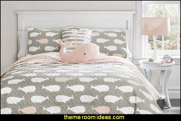 Whale Quilts and novelty throw pillows