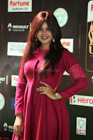 Monal Gajjar in Maroon Gown Stunning Cute Beauty at IIFA Utsavam Awards 2017 054.JPG