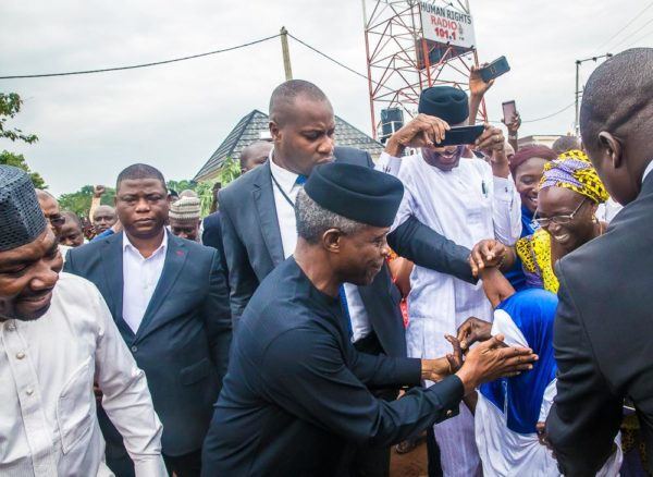 And a girl too gets Osinbajo's attention
