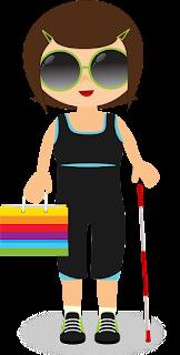Menina cega com bengala e compras para ilustrar o post de Lançamentos Liberados 2018 (No Poo e Low Poo) - Falaremos também de Low Poo e Caspa