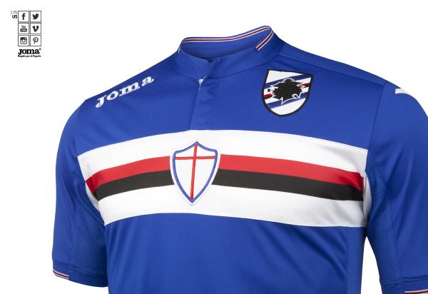La nueva camiseta de la Sampdoria incluye un cántico para la afición - Nueva Era Deportiva