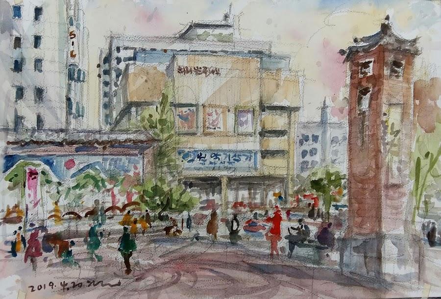 e110b637ed6 Sketches at Insadong street