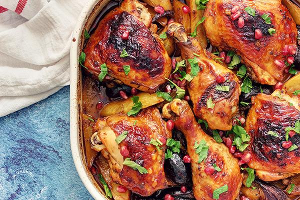 Piletina (i krompir) sa sirupom od nara