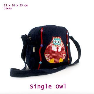 tas selempang owl, tas selempang anak, grosir tas anak, aneka tas anak lucu