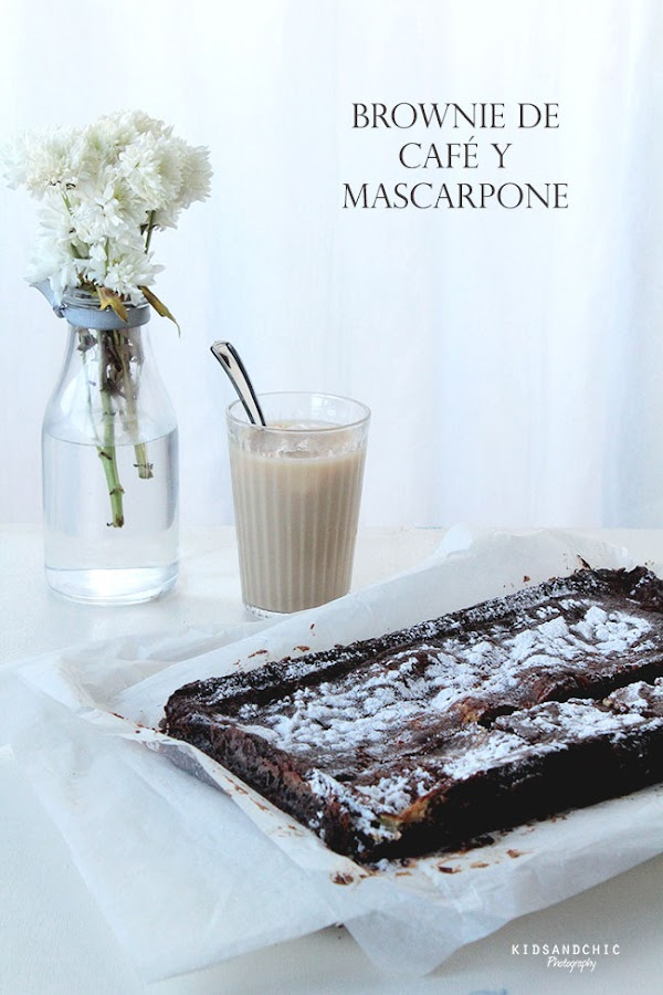 brownie de café y mascarpone kidsandchic