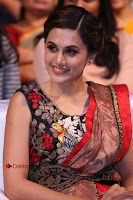 Tapsee Pannu Latest Stills in Red Silk Saree at Anando hma Pre Release Event .COM 0083.JPG