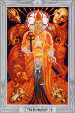 Star and Snake Thelema Blogspot: The Hierophant V Tarot