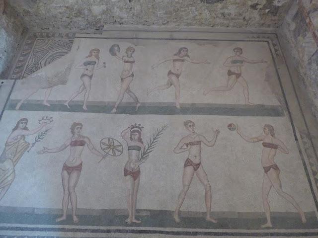 mosaico delle palestrate a villa del casale