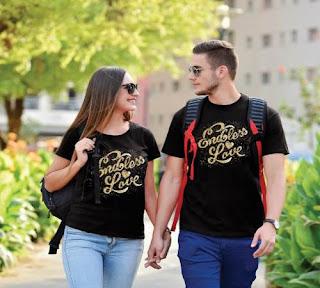صورة عن الحب: حبيبين يلبسان نفس التيثرت