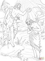 Resultado de imagem para batismo de jesus desenho