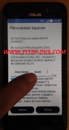 bypass email verifikasi ASUS_X009DA (ZB450KL) Tahap 4