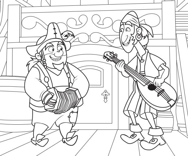 Fazendo A Minha Festa Para Colorir Jake E Os Piratas Da Terra Do