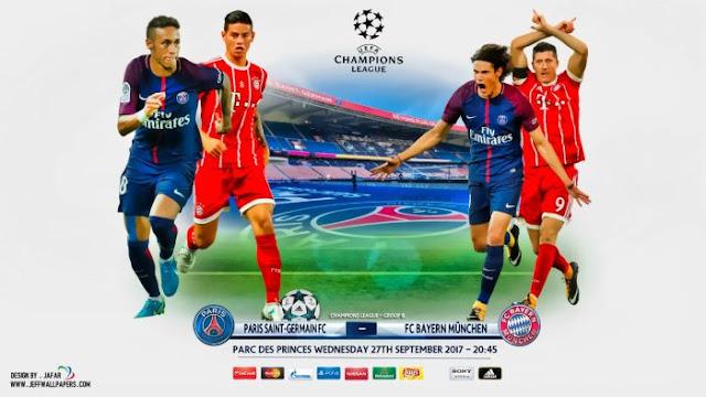 PSG X Bayern (27/09/2017) – Champions League 2017/18 – Data, horário, TV e Local