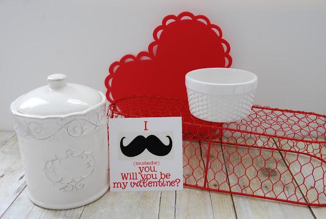 Mustache Vinyl Decal Valentine