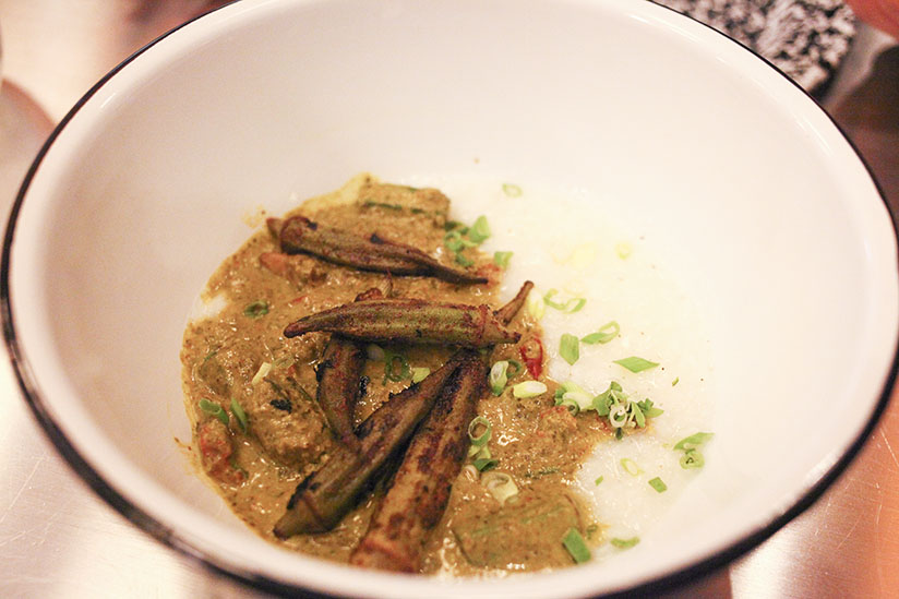 Grilled Marinated Okra from Gilbert's Social
