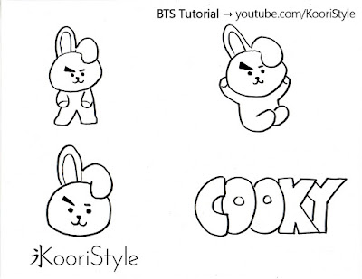 Koori Style, KooriStyle, BTS, BT21, Cooky, Jungkook, Pin, Brooch, Broche, Felt, DIY, Tutorial, Make, Easy, Cute, Kpop, Facil, Fieltro, Plantilla, Printable, Gift, Regalo