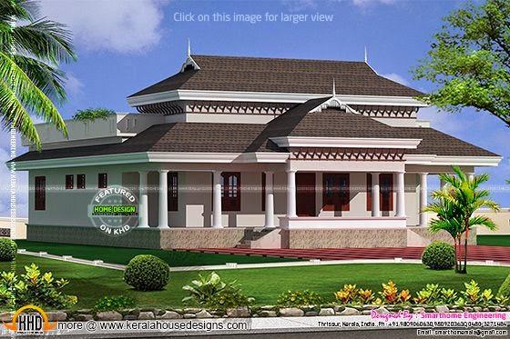 Kerala model traditional home