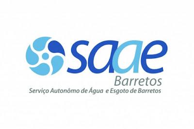 CONCURSO 001/2018 -  SAAE DE BARRETOS SP - Vagas 66 - Vários cargos do nível Fundamental ao Superior - Salários de  R$ 1.035,50 a R$ 2.746,49 - INSCRIÇÕES: 08/08/2018 a  12/09/2018