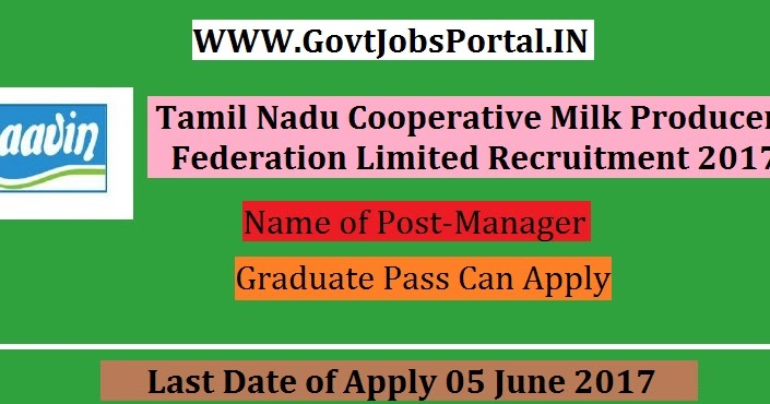 Cooperative Milk Producers Federation Limited Recruitment