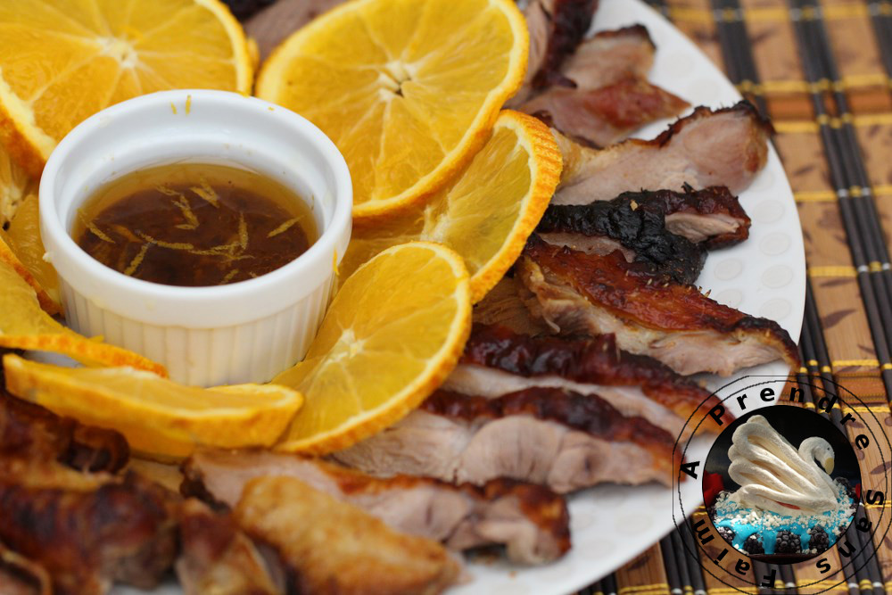 Canard laqué sauce à l'orange