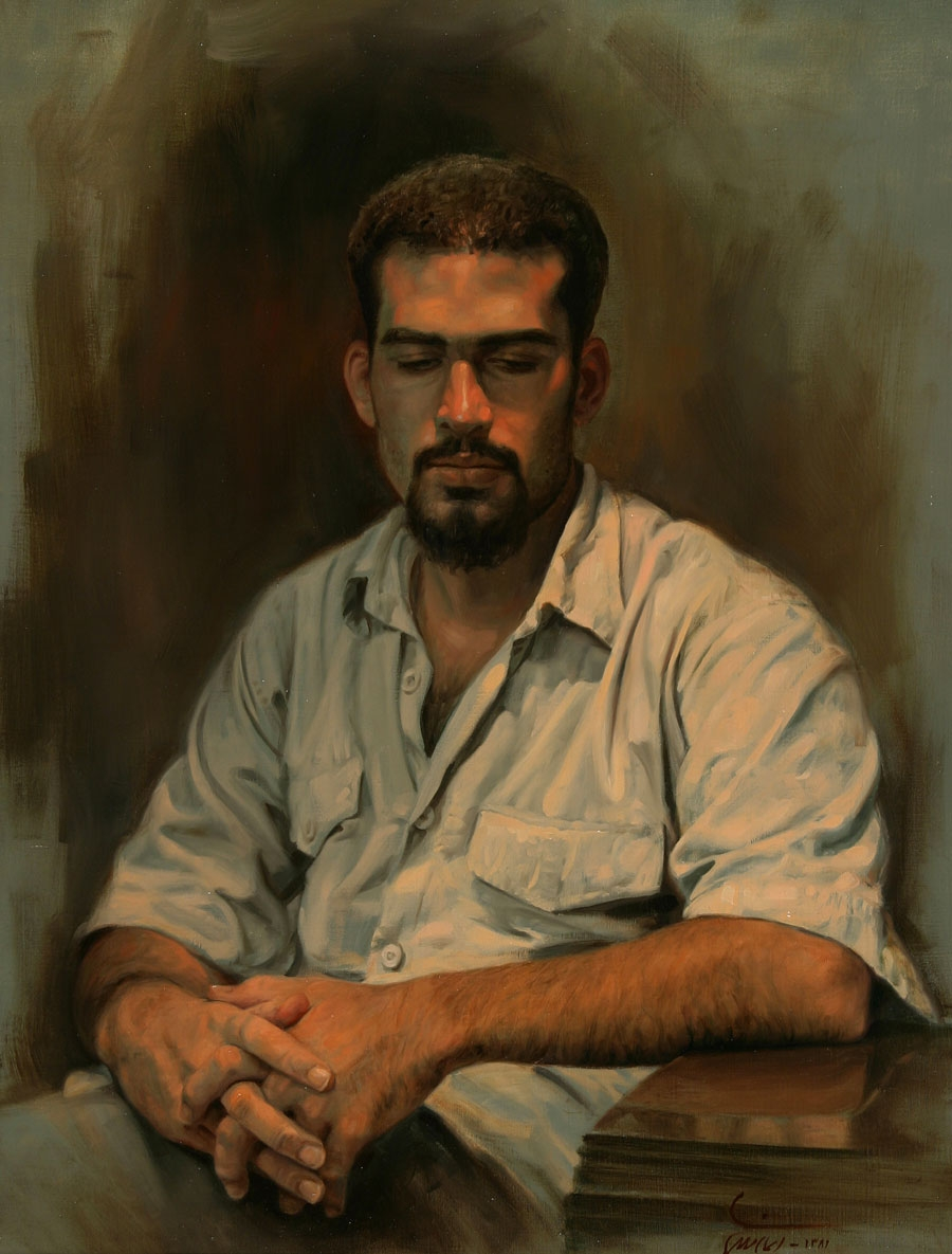07-Portrait-of-a man-Iman-Maleki-Realistic-Paintings-that-Portray-Intense-Expressions-www-designstack-co