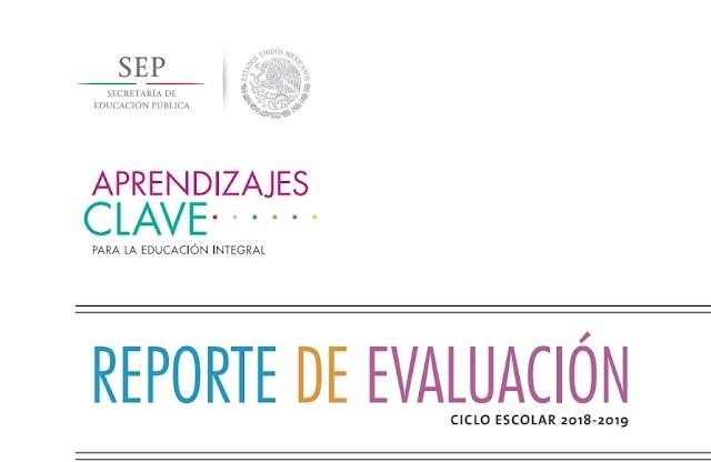 REPORTES DE EVALUACIÓN - PRIMARIA - APRENDIZAJES CLAVE