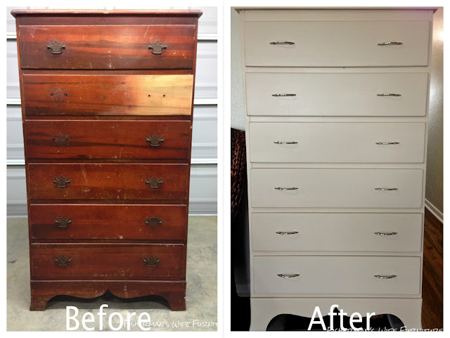 Painted dresser, khaki, fisherman's wife furniture