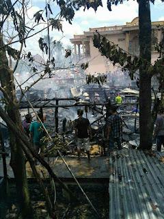 Lima Rumah di Pemulutan Terbakar