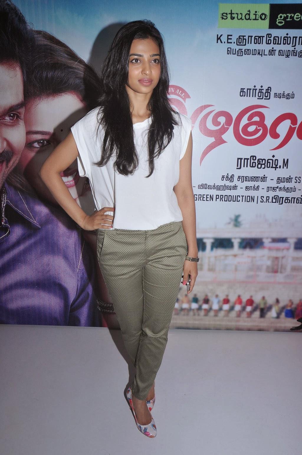 Radhika apte photos at Alaguraja Tamil Movie Stills