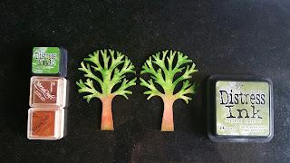 árboles de la decoración