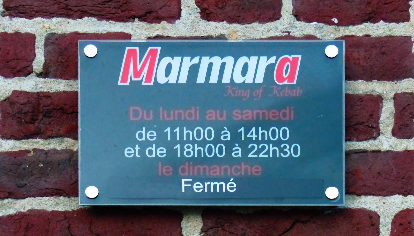 Marmara Kebab Tourcoing - Heures d'ouverture