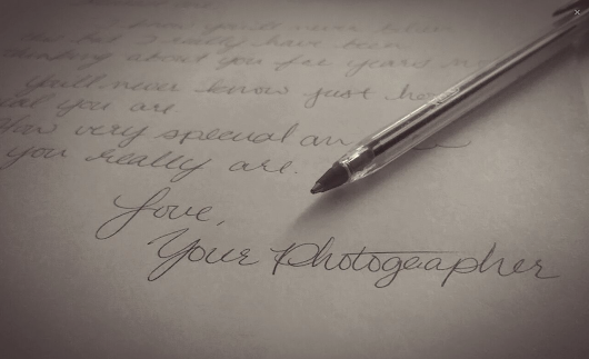 A Portrait Photographer's Love Letter