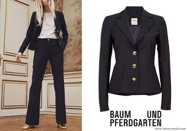 Crown Princess Victoria wore BAUM & PFERDGARTEN Bonny Blazer