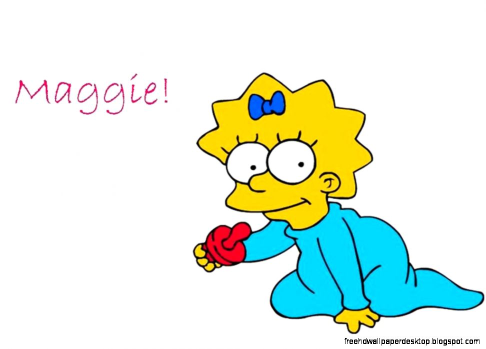 Animated Cartoon Maggie Simpson Hd Wallpaper | Free High ...