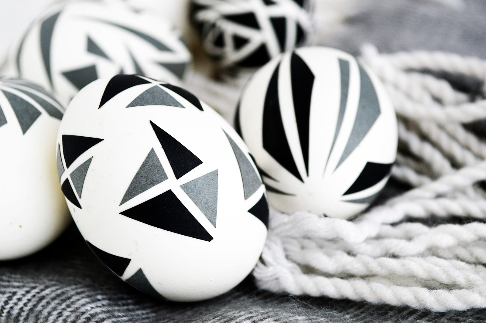 DIY Geometric Triangle Easter Eggs | Motte's Blog