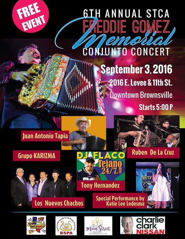Charlie Clark Nissan Brownsville >> Brownsville Living: Conjunto Concert Tonight 5-11 PM - Levee & 11th Downtown!