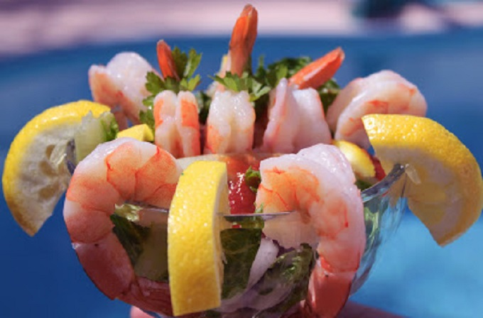 this is how to make homemade shrimp  cocktail with sauce recipe