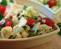 Salada de Couve-Flor e Tomate (vegana)
