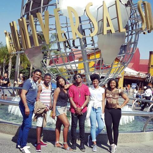 Omotola Jalade-Ekeinde, Husband & their children on Family Vacation United States