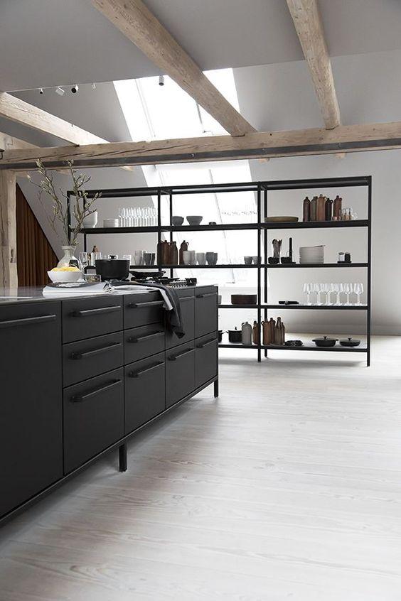 Industrial Black Kitchen