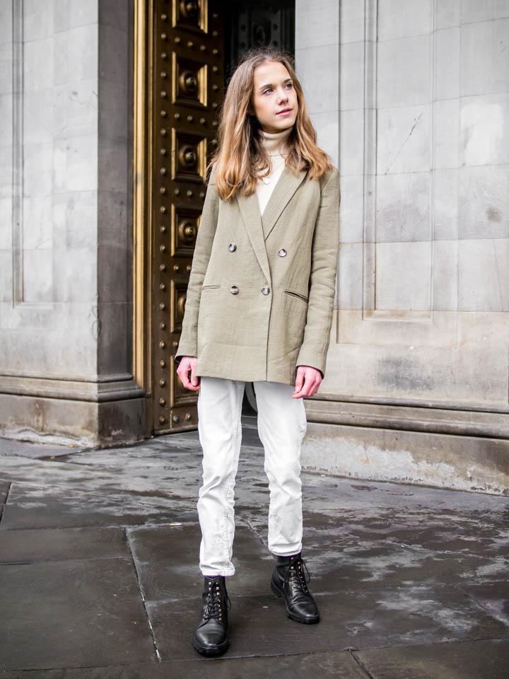Green blazer outfit ideas - Asu vihreän bleiserin kanssa