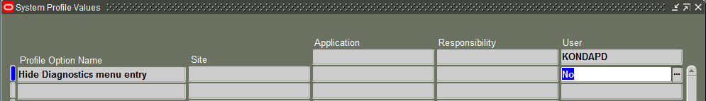 How to Enable Diagnostics in Oracle Applications - Oracle Appplications