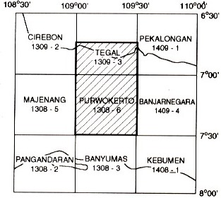 Peta Indeks Lembar Purwokerto dan Tegal
