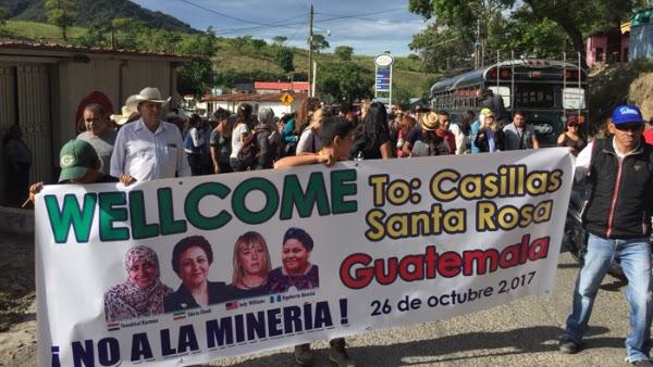Mujeres Nobel de la Paz rechazan minera de oro en Guatemala