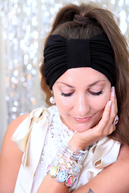 Turban Headband in Black by Mademoiselle Mermaid