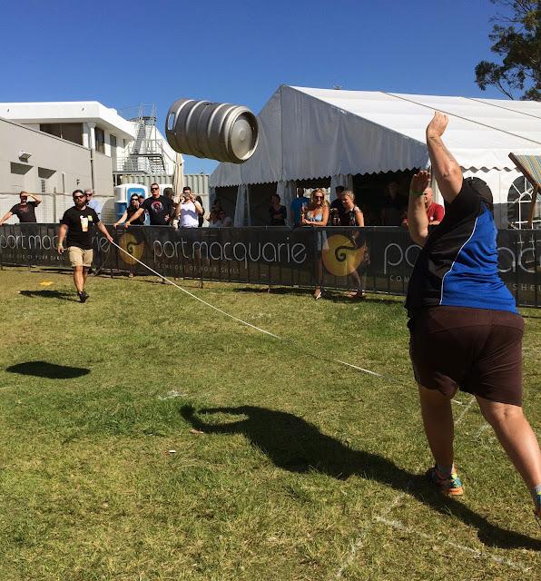 Port Macquarie Beer and Cider Festival Keg Toss