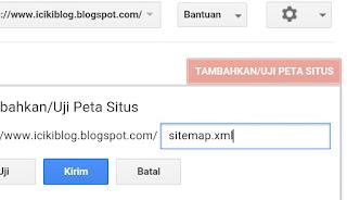 Cara mengirimkan peta situs ke google Webmaster tool