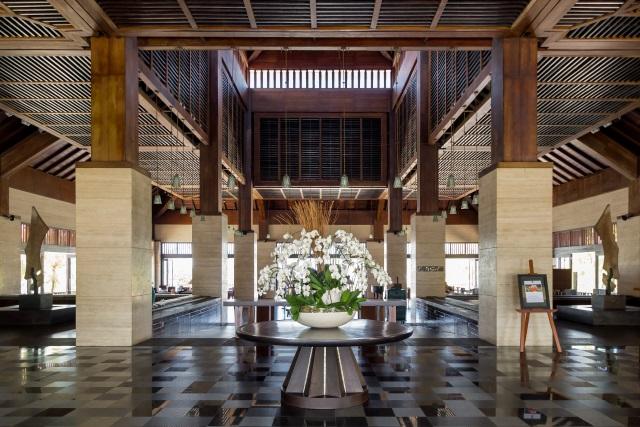 main lobby of Conrad Bali