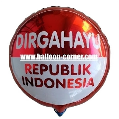 "Balon Foil Bulat ""DIRGAHAYU REPUBLIK INDONESIA"" (NEW)"